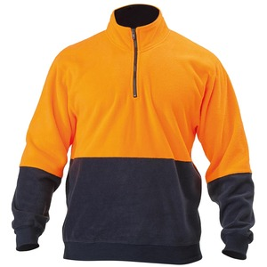 Hi Vis Polar Fleece Zip Pullover